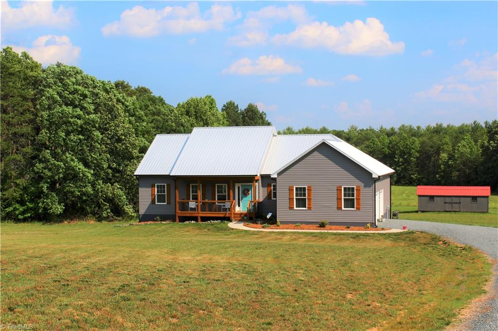 Like new home in immaculate condition on 3 acres. Home has a lot of upgraded features, granite counter tops, copper farm sink in kitchen, luxury vinyl plank through out most of the home, upgraded fixtures, antiqued cabinets with soft close doors and drawers, superior wall basement with a little over half finished. Very well built home, built by one of the top builders in the area. Home also has hybrid water heater which uses a fraction of the energy per month. Come enjoy country living at its best!