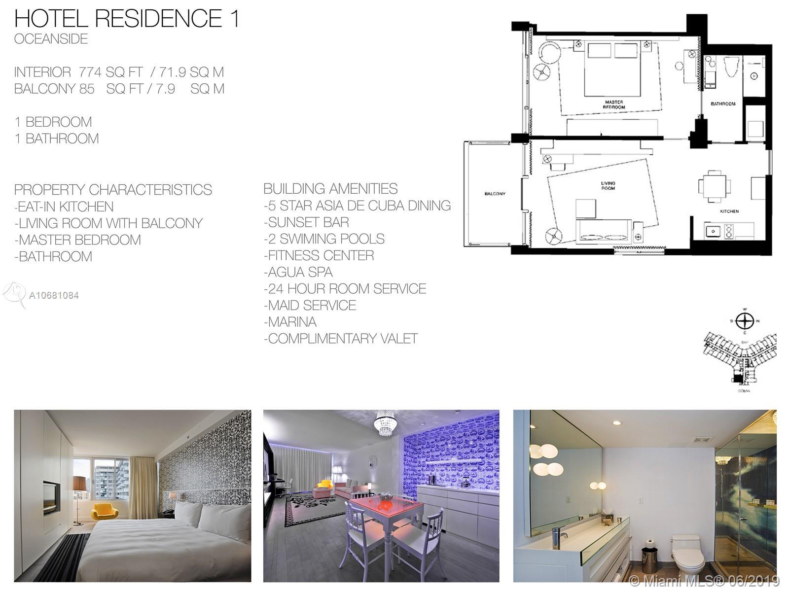 Mondrian South Beach #714 - 1100 West Ave #714, Miami Beach, FL 33139