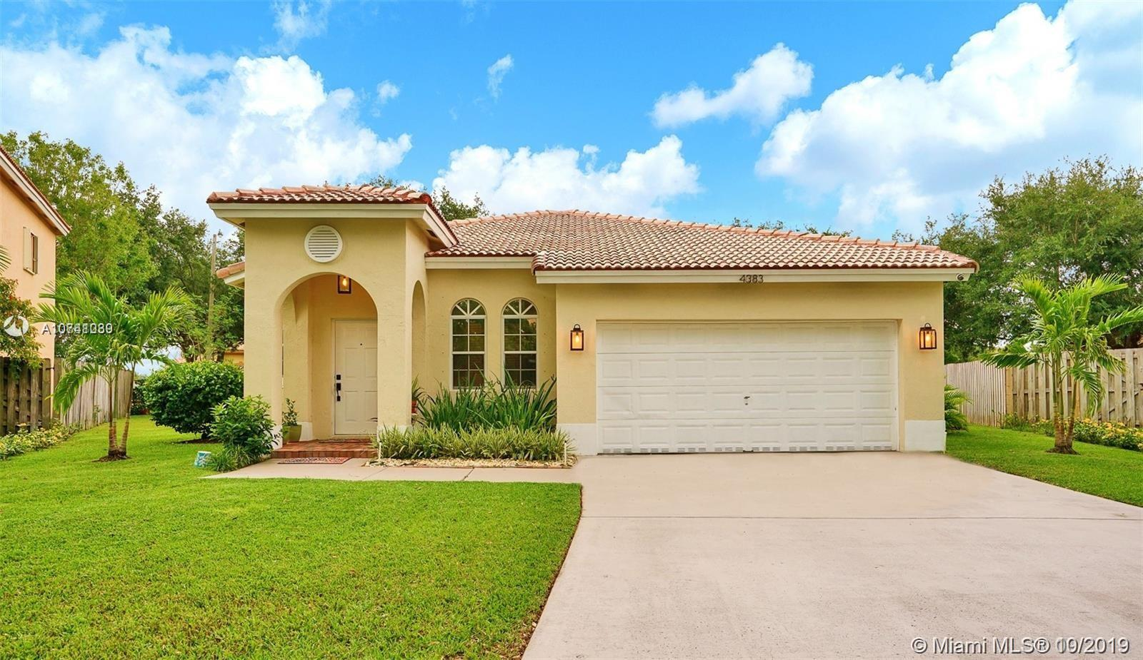 Property for sale at 4383 NW 42nd Court, Coconut Creek FL 33073, Coconut Creek,  Florida 33073