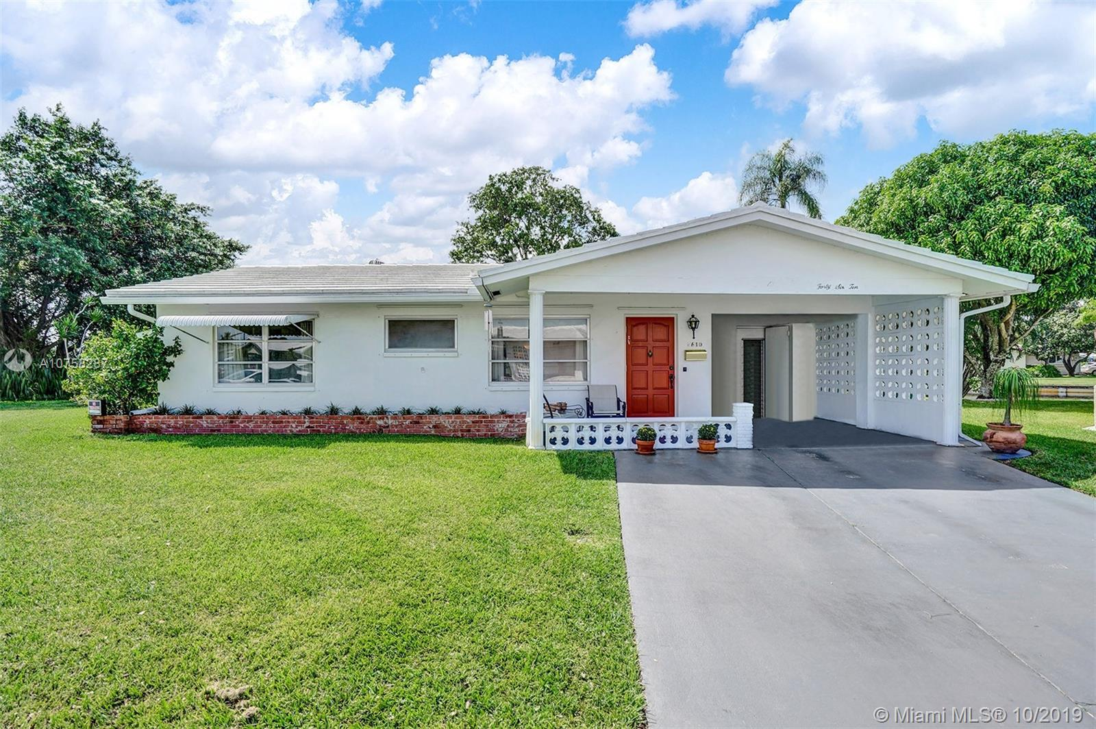Property for sale at 4610 NW 45th Ct, Tamarac,  Florida 33319